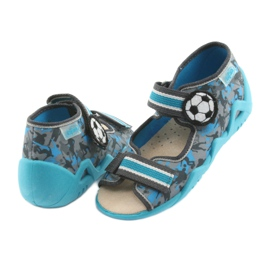 Pantofi pentru copii Befado galbeni 350P001 albastru gri 4