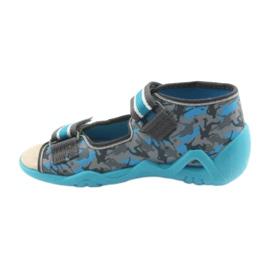 Pantofi pentru copii Befado galbeni 350P001 albastru gri 2