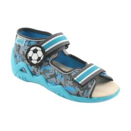 Pantofi pentru copii Befado galbeni 350P001 albastru gri 1