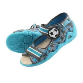 Pantofi pentru copii Befado galbeni 350P001 albastru gri 5