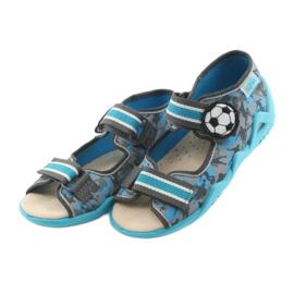 Pantofi pentru copii Befado galbeni 350P001 albastru gri 3