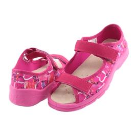 Încălțăminte pentru copii Befado 869X132 albastru galben roz 4