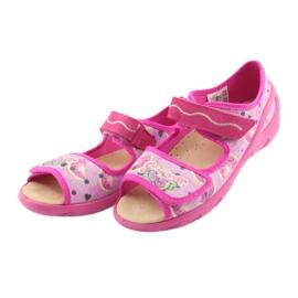 Pantofi pentru copii Befado pu 433X030 verde galben roz 3