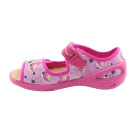 Pantofi pentru copii Befado pu 433X030 verde galben roz 2