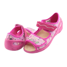Pantofi pentru copii Befado pu 433X030 verde galben roz 4