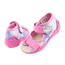 Pantofi pentru copii Befado 342P005 curcubeu albastru gri galben roz 1