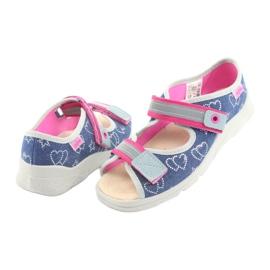 Încălțăminte pentru copii Befado 869Y134 gri roz albastru marin 4