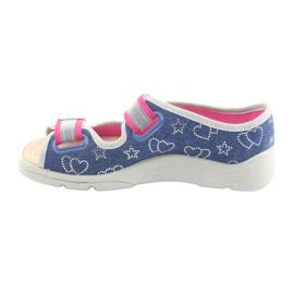 Încălțăminte pentru copii Befado 869Y134 gri roz albastru marin 2