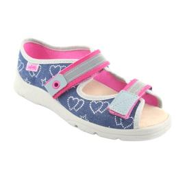 Încălțăminte pentru copii Befado 869Y134 gri roz albastru marin 1