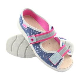 Încălțăminte pentru copii Befado 869Y134 gri roz albastru marin 3