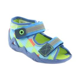 Papuci Befado 250P059 albastru, verde portocale 1