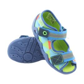 Papuci Befado 250P059 albastru, verde portocale 3