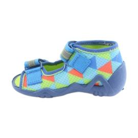 Papuci Befado 250P059 albastru, verde portocale 2
