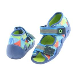 Papuci Befado 250P059 albastru, verde portocale 4