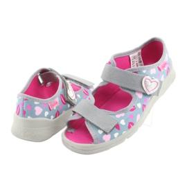 Încălțăminte pentru copii Befado 969Y133 roz gri 4