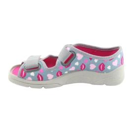 Încălțăminte pentru copii Befado 969Y133 roz gri 2