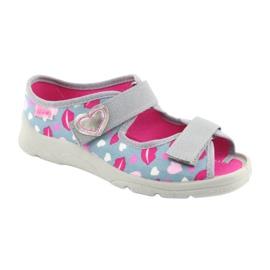 Încălțăminte pentru copii Befado 969Y133 roz gri 1
