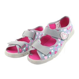 Încălțăminte pentru copii Befado 969Y133 roz gri 3