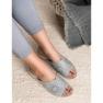 Papuci pantofi pentru femei de culoare deschisă Goodin gri 1