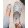 Papuci pantofi pentru femei de culoare deschisă Goodin gri 5