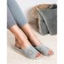 Papuci pantofi pentru femei de culoare deschisă Goodin gri 6