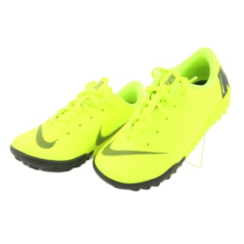 Nike Mercurial VaporX 12 Academie Tf Jr AH7353-701 Cizme pentru fotbal galben 3