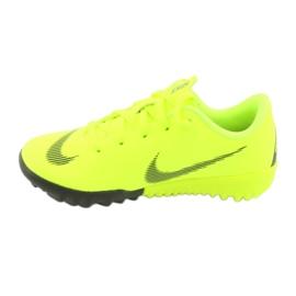 Nike Mercurial VaporX 12 Academie Tf Jr AH7353-701 Cizme pentru fotbal galben 2