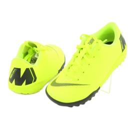 Nike Mercurial VaporX 12 Academie Tf Jr AH7353-701 Cizme pentru fotbal galben 4