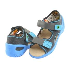 Pantofi pentru copii Befado pu 065P125 albastru gri 3