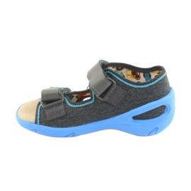 Pantofi pentru copii Befado pu 065P125 albastru gri 2