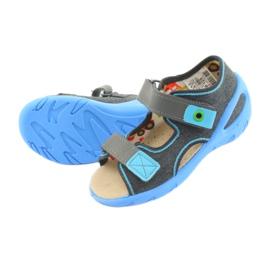 Pantofi pentru copii Befado pu 065P125 albastru gri 4