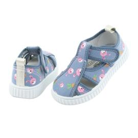 Pantofi pentru copii American Club cu velcro albastru TEN 32/19 roz 4