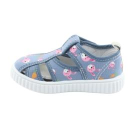 Pantofi pentru copii American Club cu velcro albastru TEN 32/19 roz 2