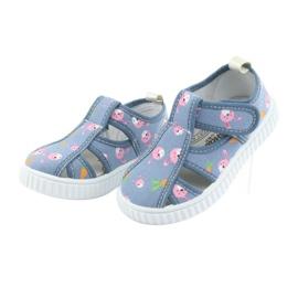 Pantofi pentru copii American Club cu velcro albastru TEN 32/19 roz 3