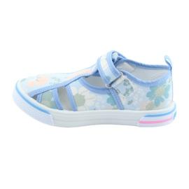 Pantofi copii American Club velcro albastru TEN 27/19 verde 2