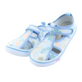Pantofi copii American Club velcro albastru TEN 27/19 verde 3