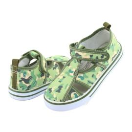 Pantofi pentru copii American Club cu velcro camo verde TEN 27/19 maro gri 4