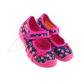 Papuci pentru fete Befado 109p181 roz albastru marin 4