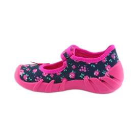 Papuci pentru fete Befado 109p181 roz albastru marin 2