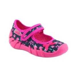 Papuci pentru fete Befado 109p181 roz albastru marin 1