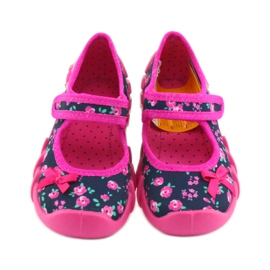 Papuci pentru fete Befado 109p181 roz albastru marin 3