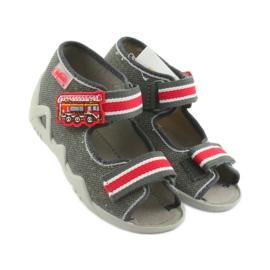 Papuci băieți Napa Befado 250P089 gri roșu 4