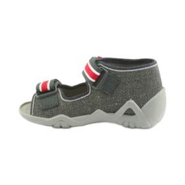 Papuci băieți Napa Befado 250P089 gri roșu 2