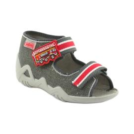 Papuci băieți Napa Befado 250P089 gri roșu 1