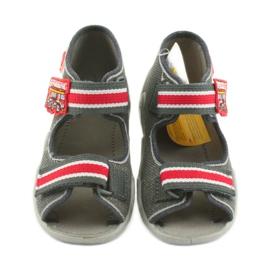 Papuci băieți Napa Befado 250P089 gri roșu 3