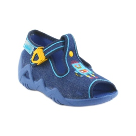 Papuci băieți Befado 217P103 bleumarin albastru marin 1