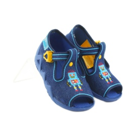 Papuci băieți Befado 217P103 bleumarin albastru marin 4