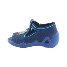 Papuci băieți Befado 217P103 bleumarin albastru marin 2