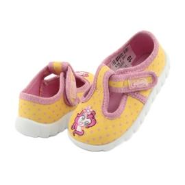 Încălțăminte pentru copii Befado 535P001 roz galben 4