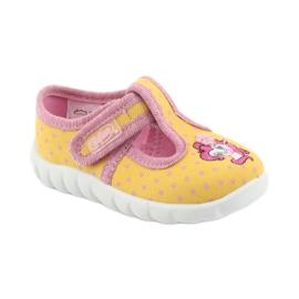Încălțăminte pentru copii Befado 535P001 roz galben 1